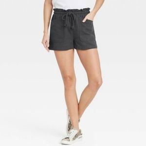 Universal Thread Blacl Tie Waist Utility Shorts